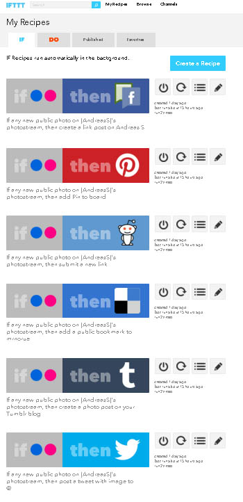 Oppskrifter for å spre Flickr bilder raskt