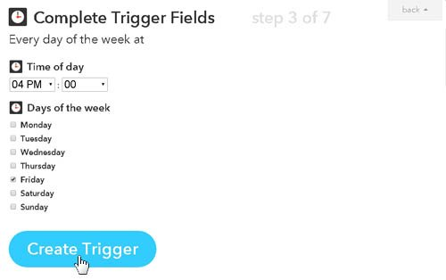 Trigger fields