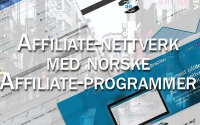 10 Affiliate-nettverk med norske affiliate programmer du må bli medlem av