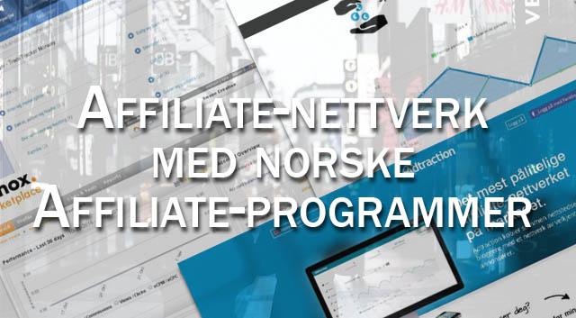 8 Affiliate-nettverk med norske affiliate programmer du må bli medlem av