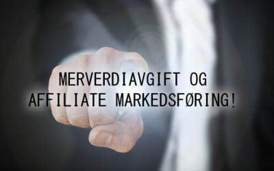 Merverdiavgift og affiliate markedsføring!