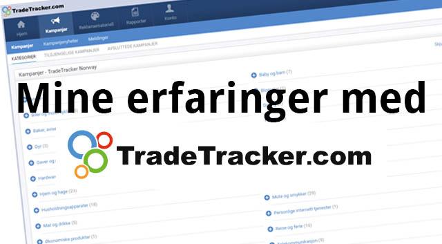 Mine erfaringer med affiliatenettverket TradeTracker
